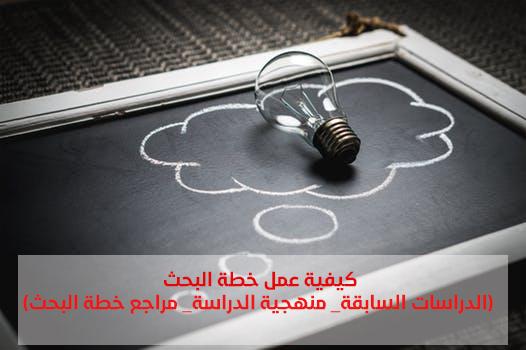 خطة البحث العلمي